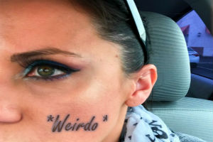 If You Tattooed Your Face With One Word…What Would It Be?