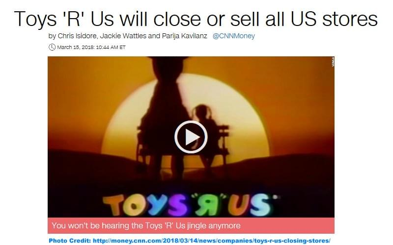 CNN Money Toys R Us