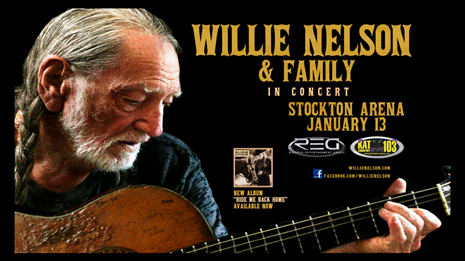 Willie Nelson Is Coming To Stockton Arena January 13th! Listen To The DJ Walker In The Morning Show To Win 'Em Before You Can Buy 'Em