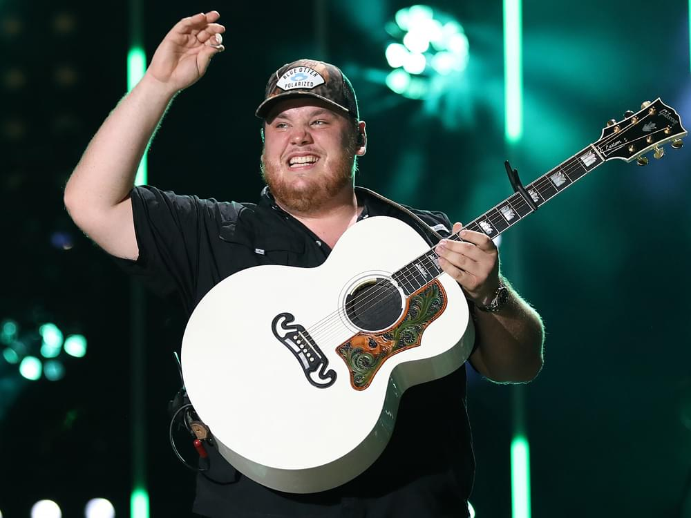 "Luke Combs Scores 7th Consecutive No. 1 Single With ""Even Though I'm Leaving"""