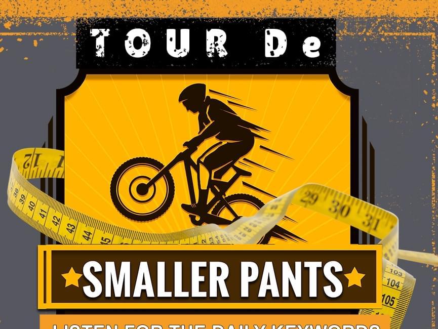 "Win a new Peleton bike in Kat Country 103's ""Tour de Smaller Pants""."