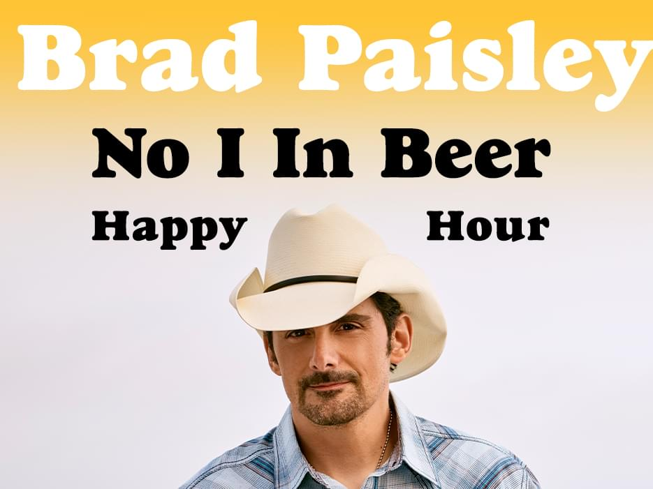 Get ready to belly up to the bar with Brad Paisley!