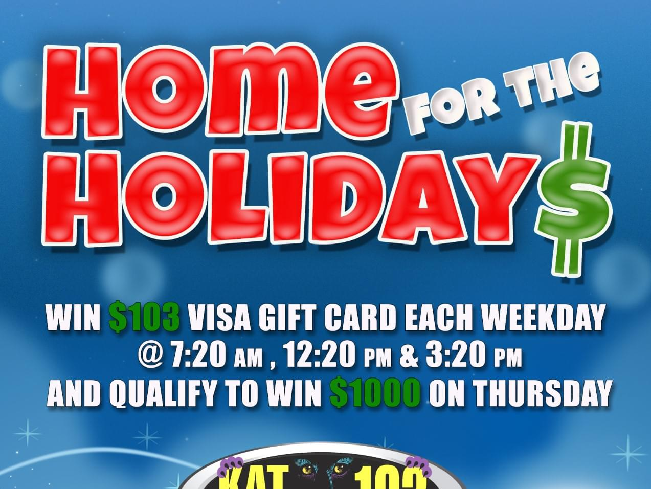 Kat Country 103 and Chicken Ranch Casino present….Home for the Holidays!