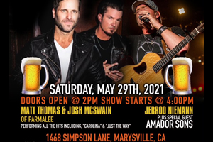 Boots & Brews Drive-In Concert May 29