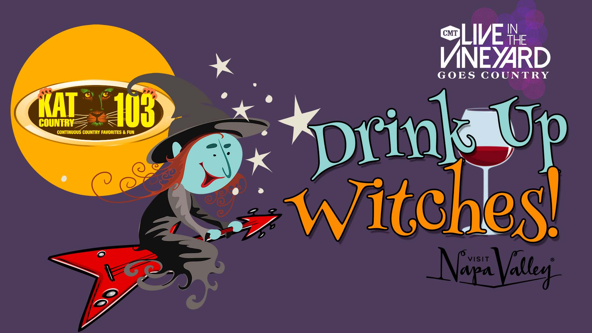 Drink Up Witches! Win a Live In The Vineyard Goes Country Prize Package!