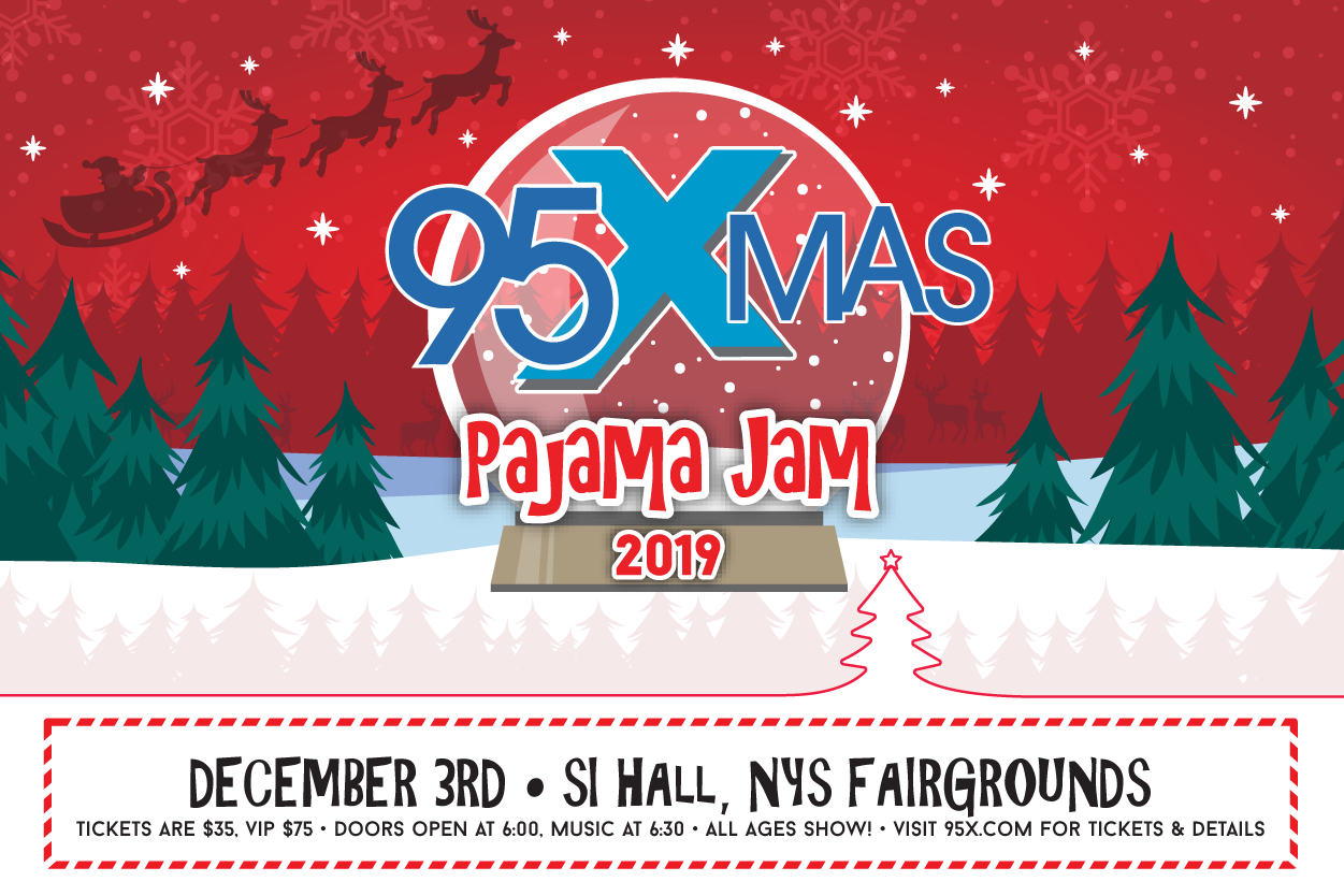 Win Tickets to the 95X-Mas Pajama Jam with Jimmy Eat World!!