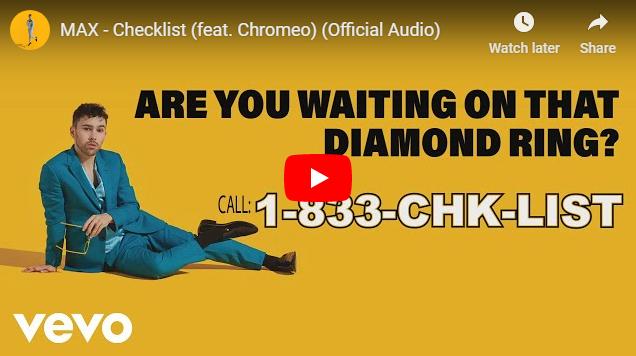 "Rick's Pick – MAX – ""Checklist"" (feat. Chromeo)"