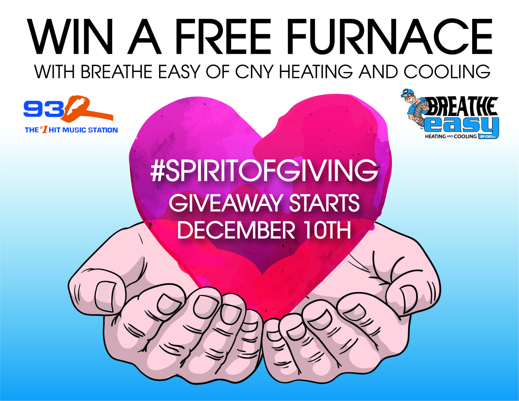 "WIN a NEW Furnace with the ""Spirit of Giving""!"