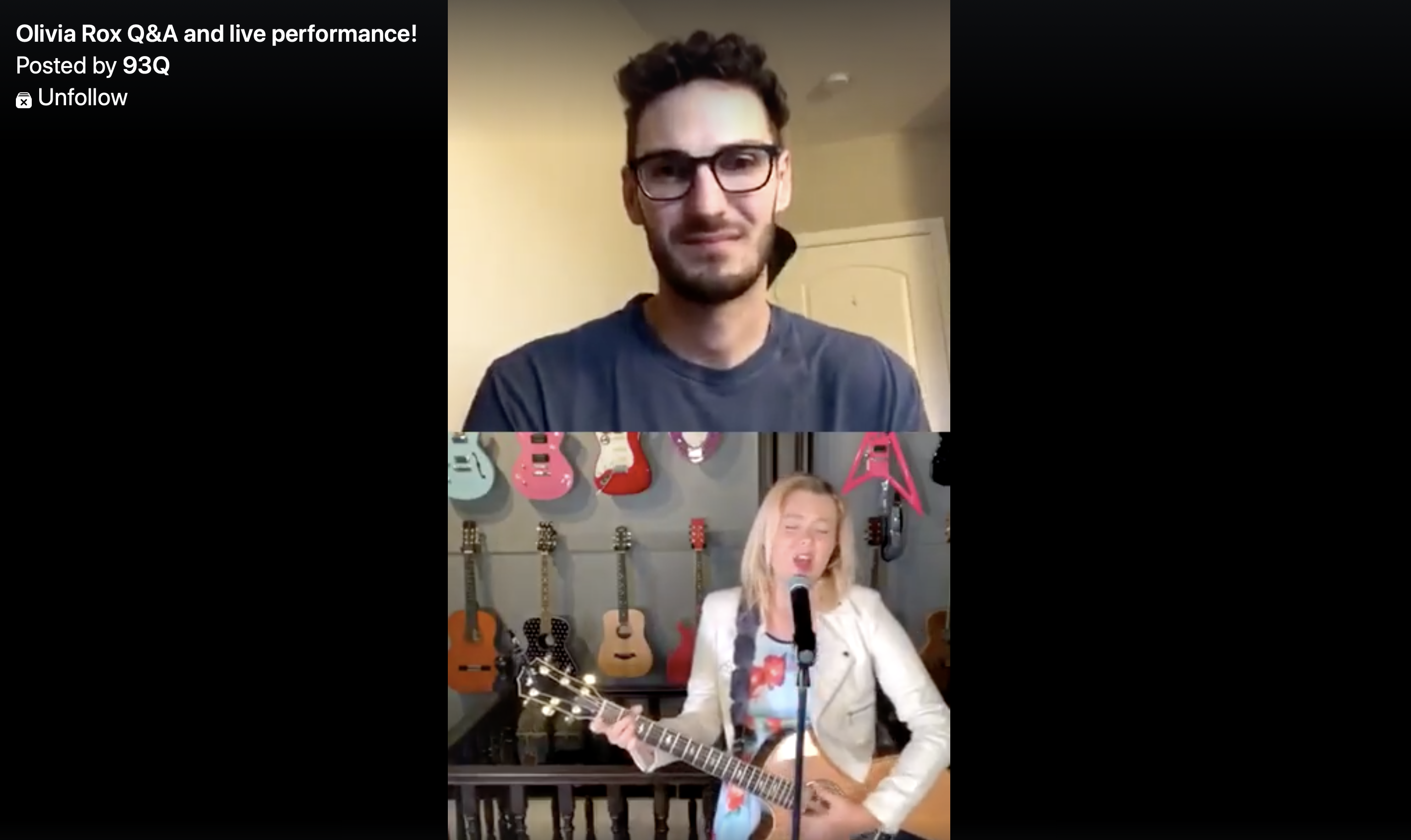 [WATCH] Olivia Rox joins 93Q live on Instagram for Q&A/performance