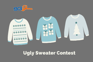 Show us your ugly Christmas sweater and win a home basketball system!   Contest