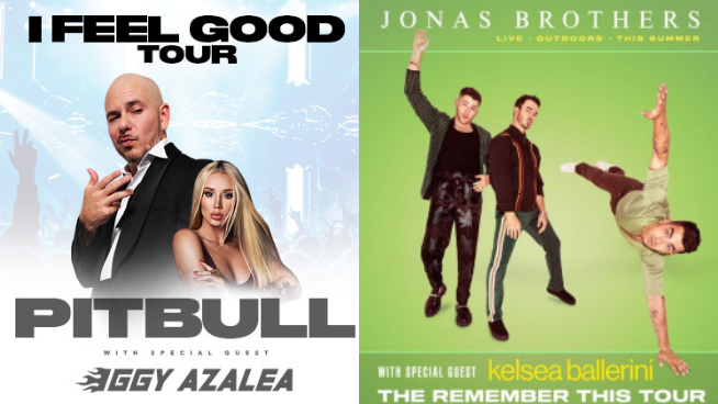 93Q Pick A Pack Weekend | Jonas Brothers or Pitbull ?