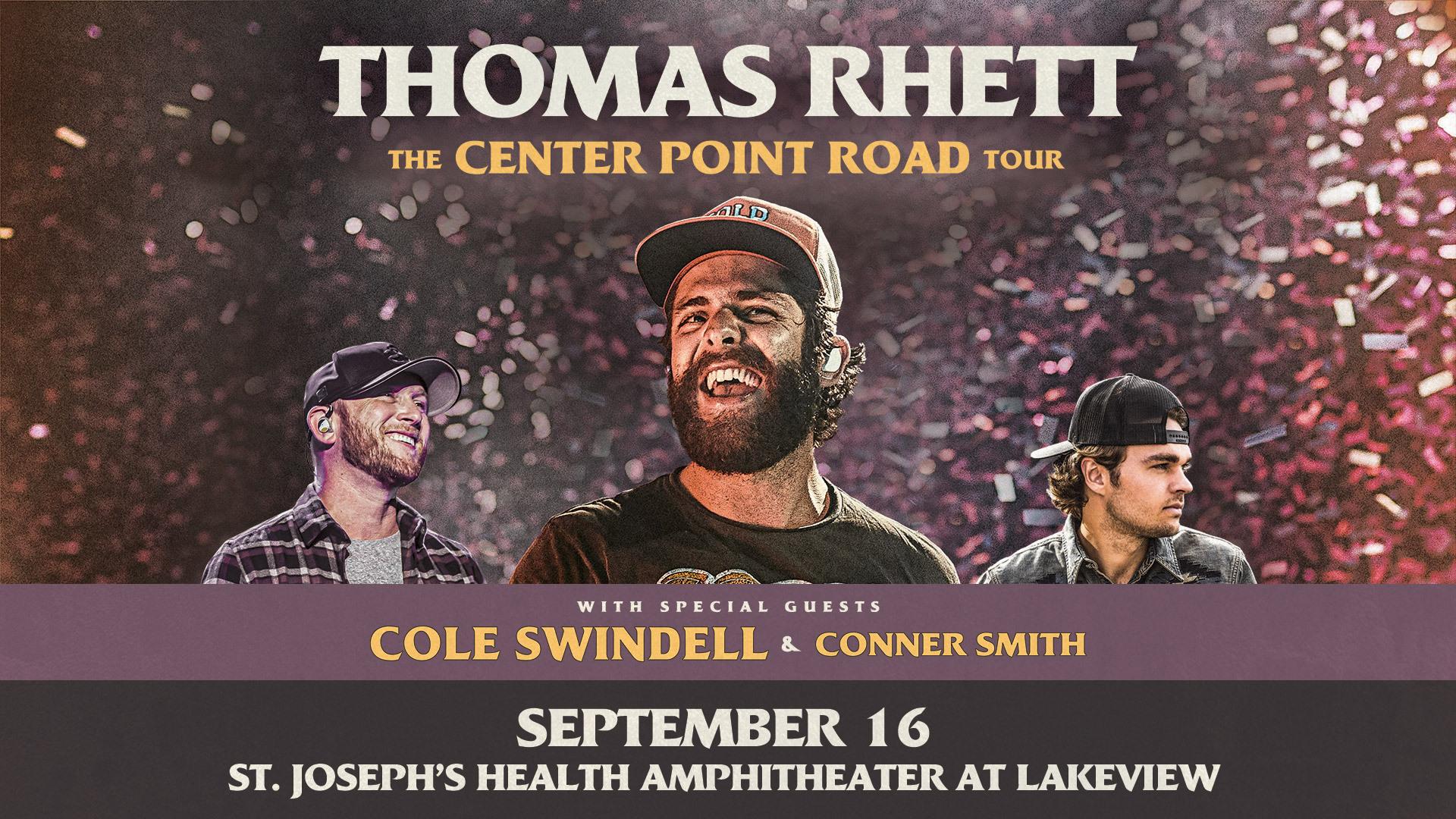 Thomas Rhett – September 16th @ Lakeview | CONTEST
