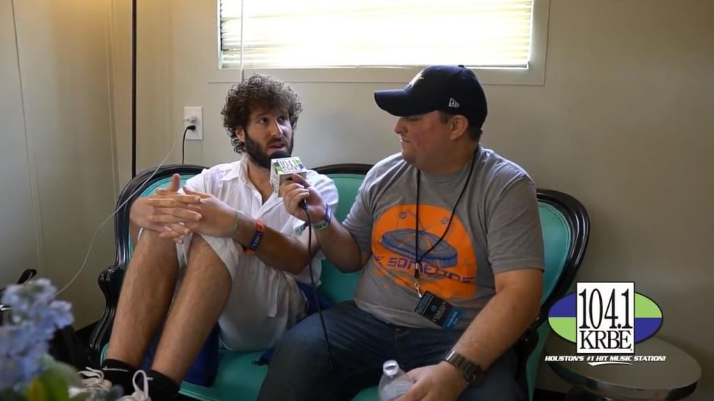 Tyler Frye interviews Lil Dicky at In Bloom Music Festival