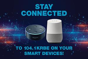 Listen to KRBE on your Amazon Alexa or Google Home