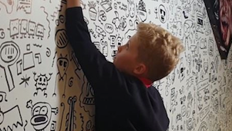 Kid Told Not To Doodle In School, Lands Gig As Professional Doodler