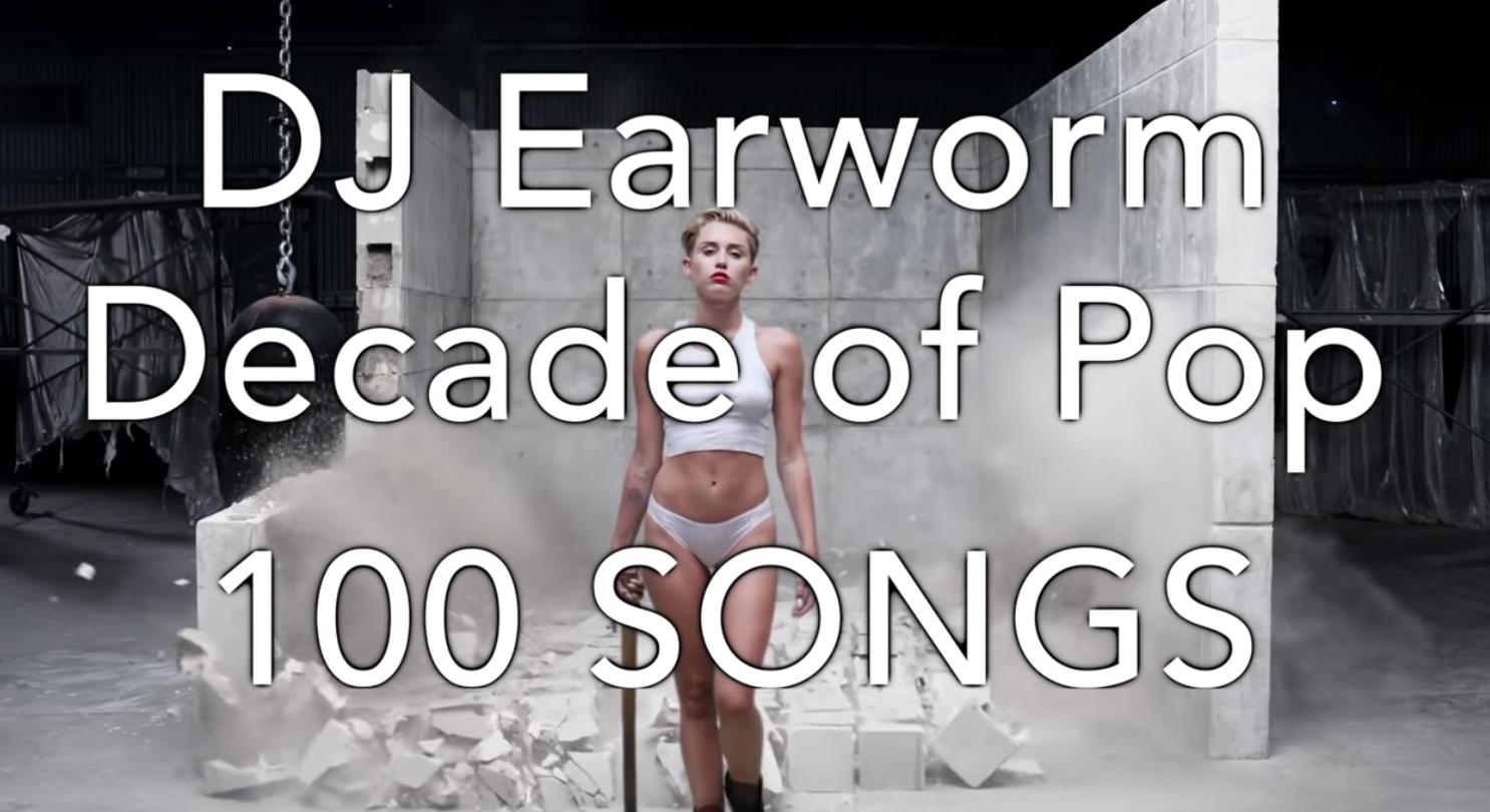 WATCH: DJ Earworm's Decade of Pop: 100 Song Mashup