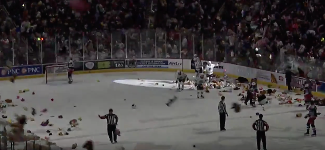 WATCH: Fans Throw More Than 45,000 Stuffed Animals At A Hockey Team
