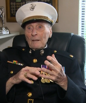 104-year old Marine veteran scores a ton of Valentines cards