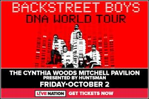 Oct 2: Backstreet Boys