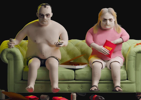 Model shows what Netflix addicts could look like in 20 years