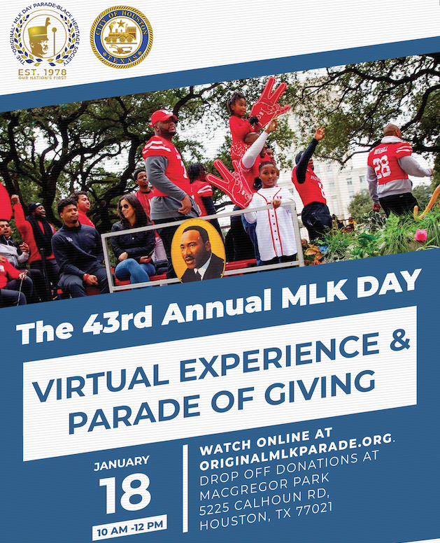 This year's ORIGINAL MLK Day Parade goes virtual