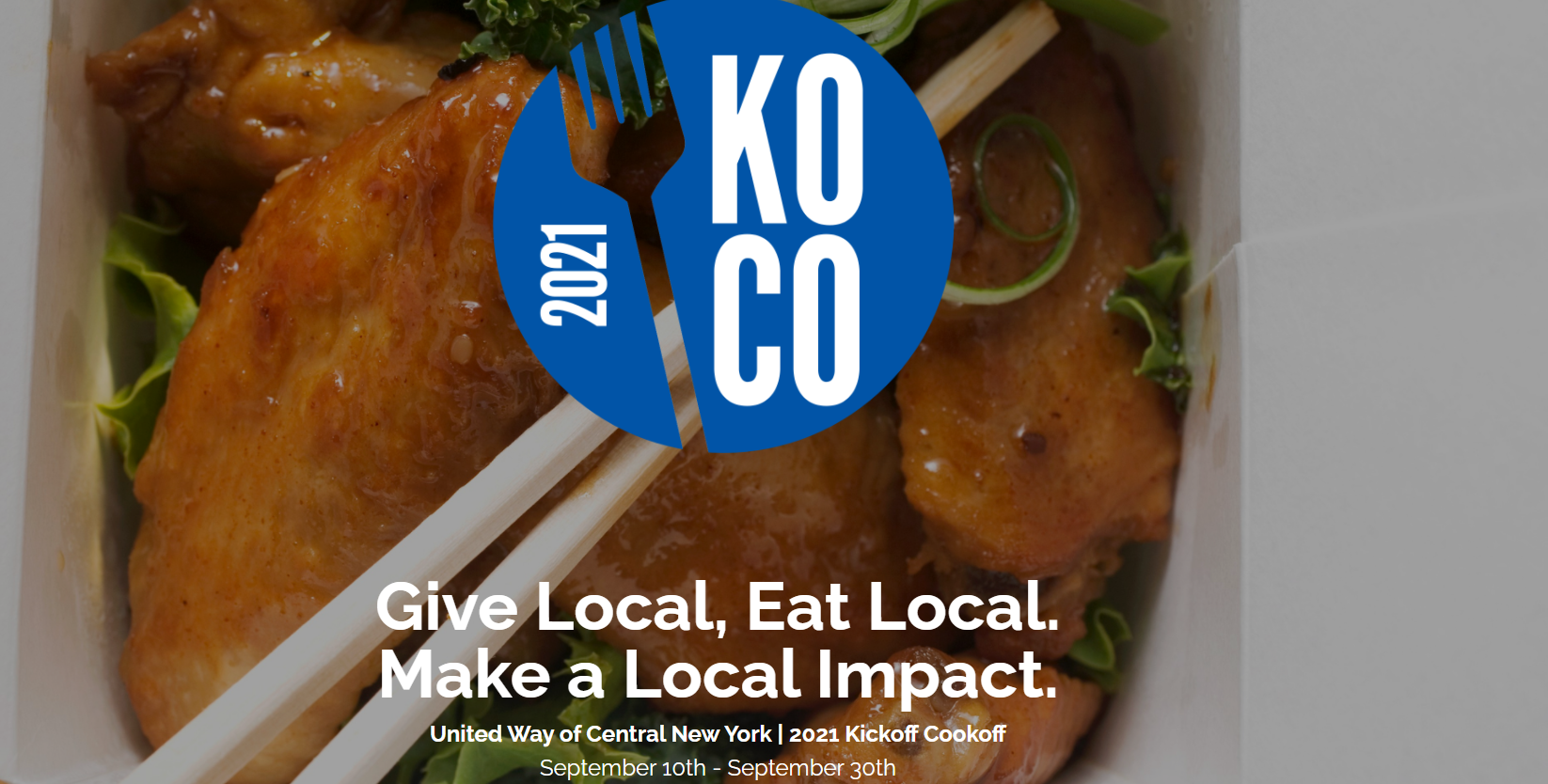 United Way of CNY 2021 Kickoff Cookoff   September 10th-30th