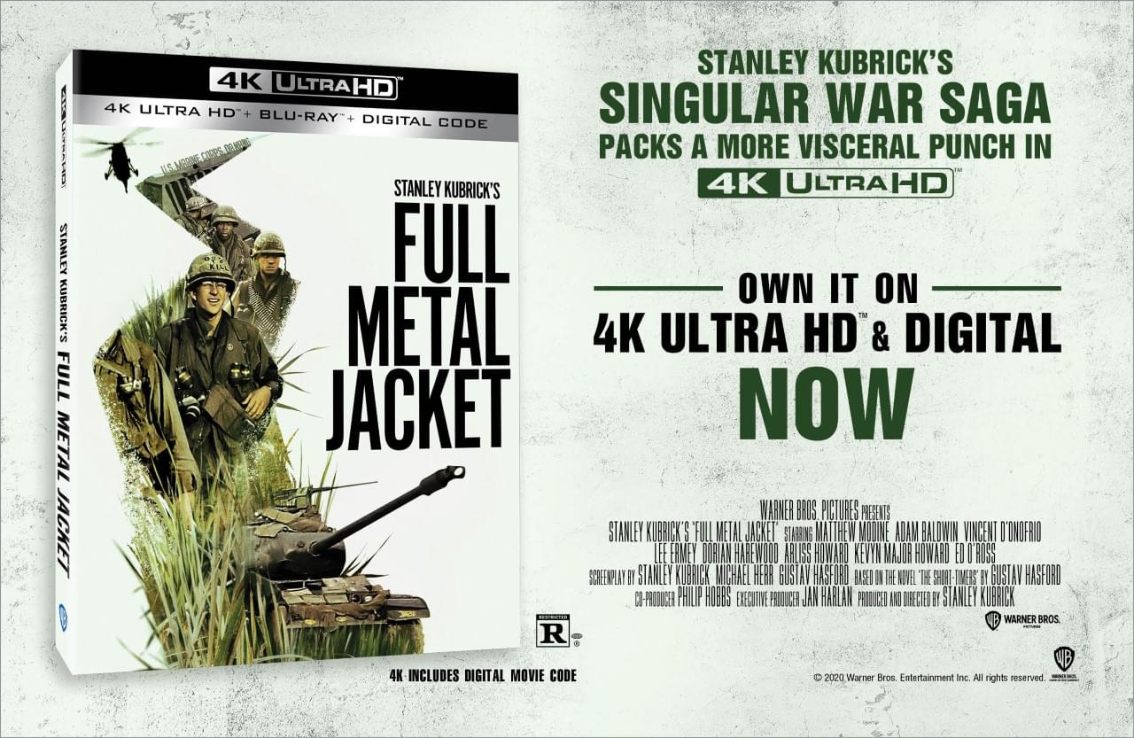 """You could WIN a digital copy of """"Full Metal Jacket!"""""""