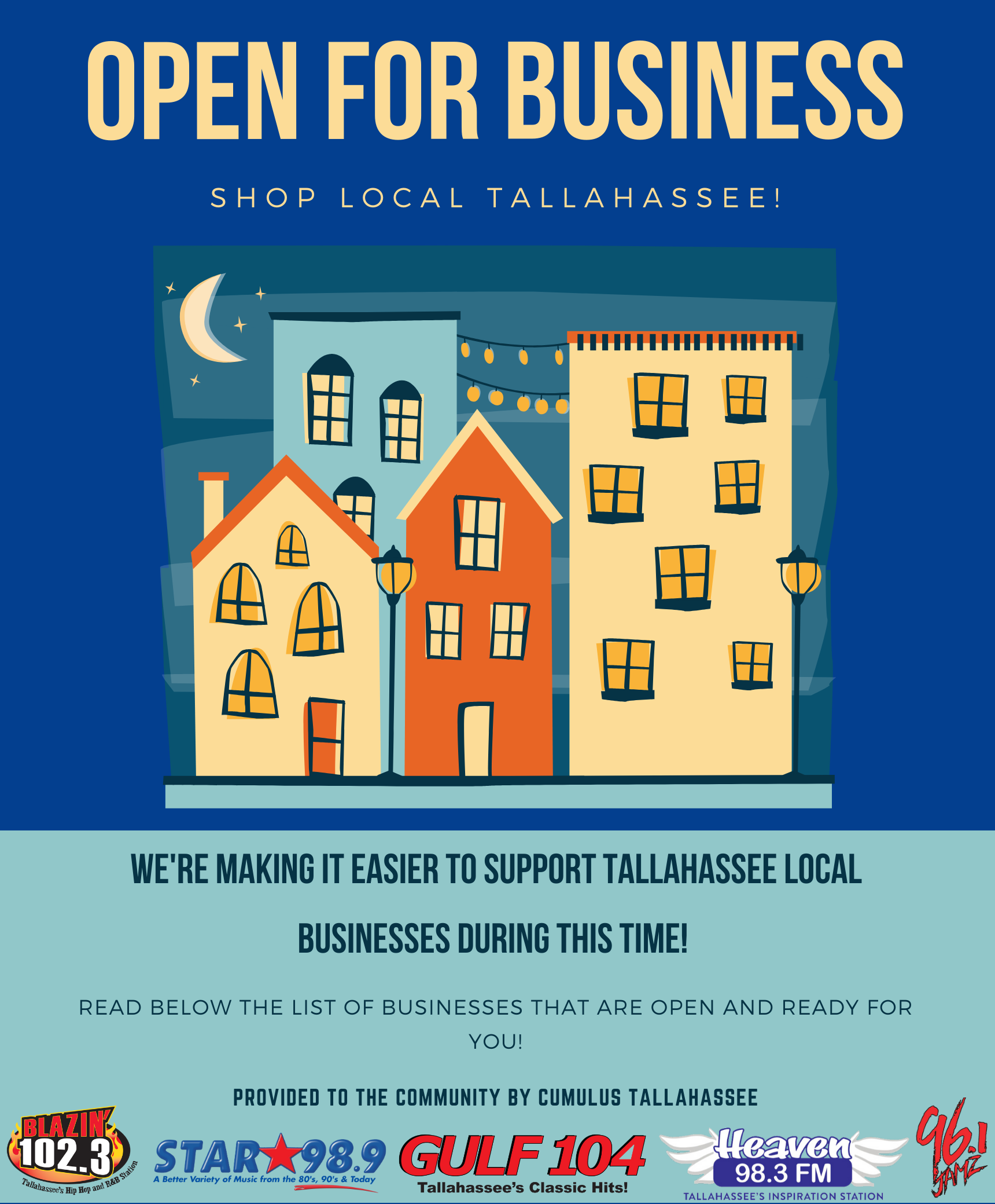 Businesses OPEN in Tallahassee!