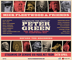 Chance to join Mick Fleetwood and Friends Livestream concert!