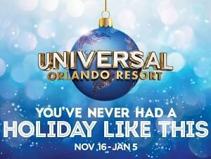 96.1 Jamz wants you to enjoy the holidays at Universal Orlando Resort!