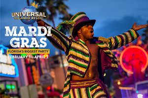 Blazin' 102.3 wants to send you to Mardi Gras at Universal Orlando Resort!