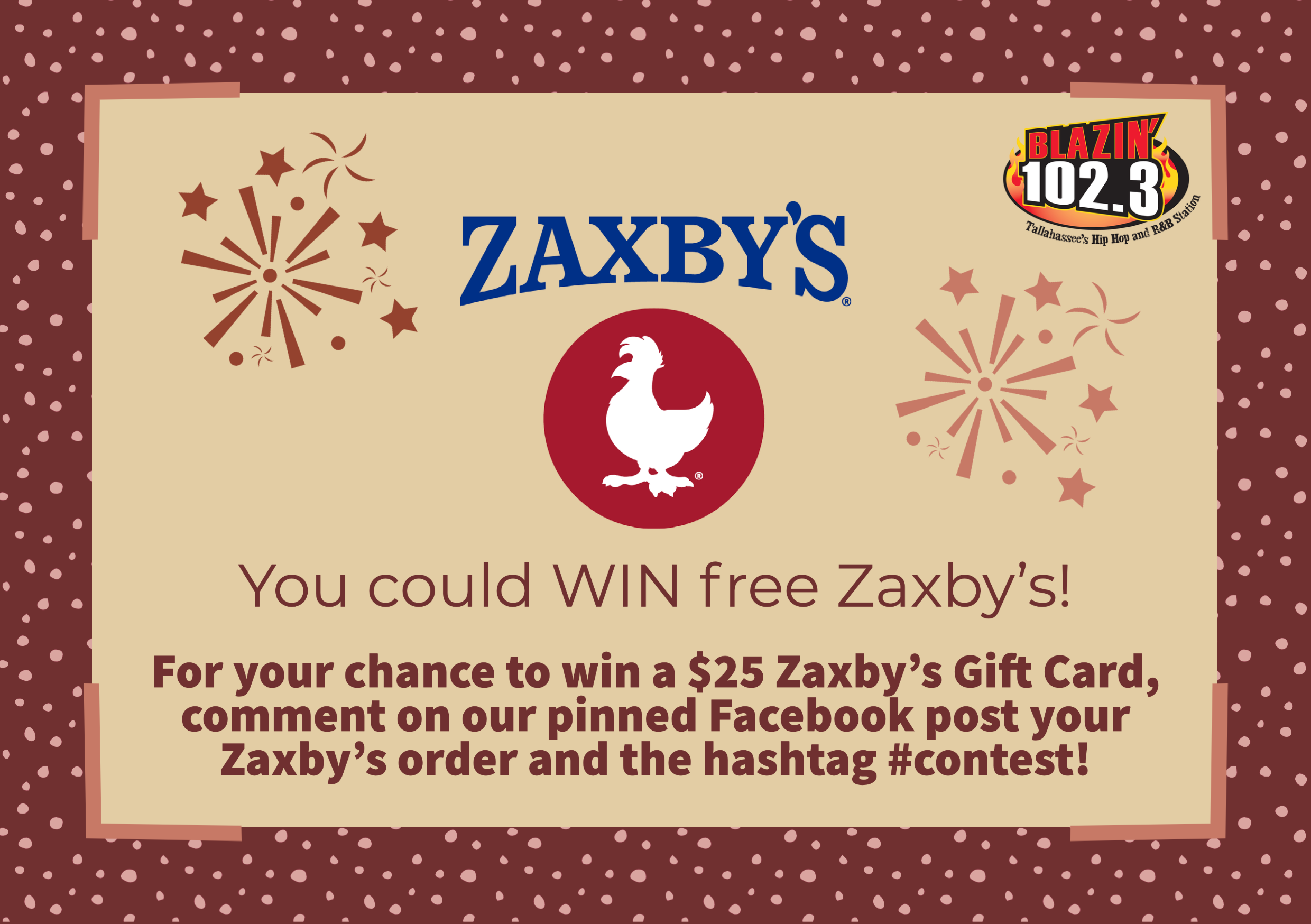Chance to WIN a $25 Zaxby's gift card!