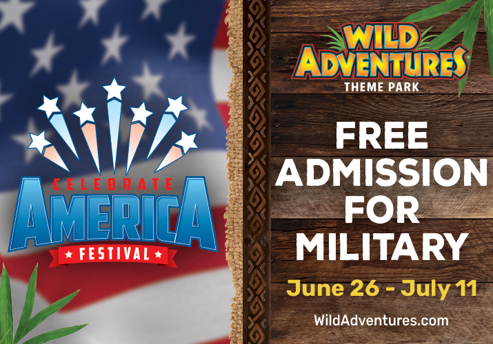 Chance to Celebrate America this Fourth of July at Wild Adventures Theme Park!