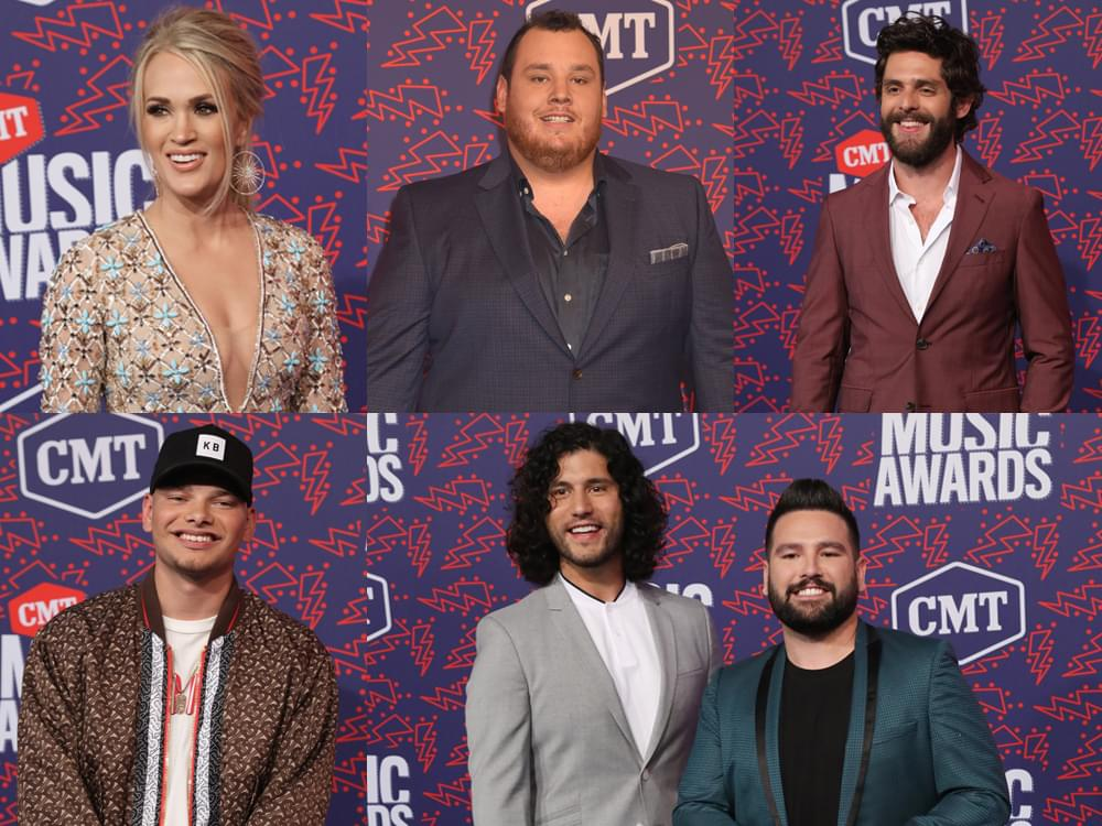 Carrie Underwood, Luke Combs, Thomas Rhett, Kane Brown & Dan + Shay Named 2019 CMT Artists of the Year