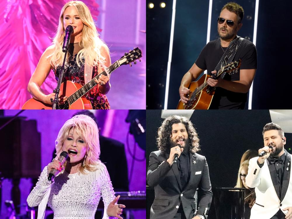 Eric Church, Miranda Lambert, Dolly Parton, Dan + Shay & More Earn Multiple Grammy Nominations