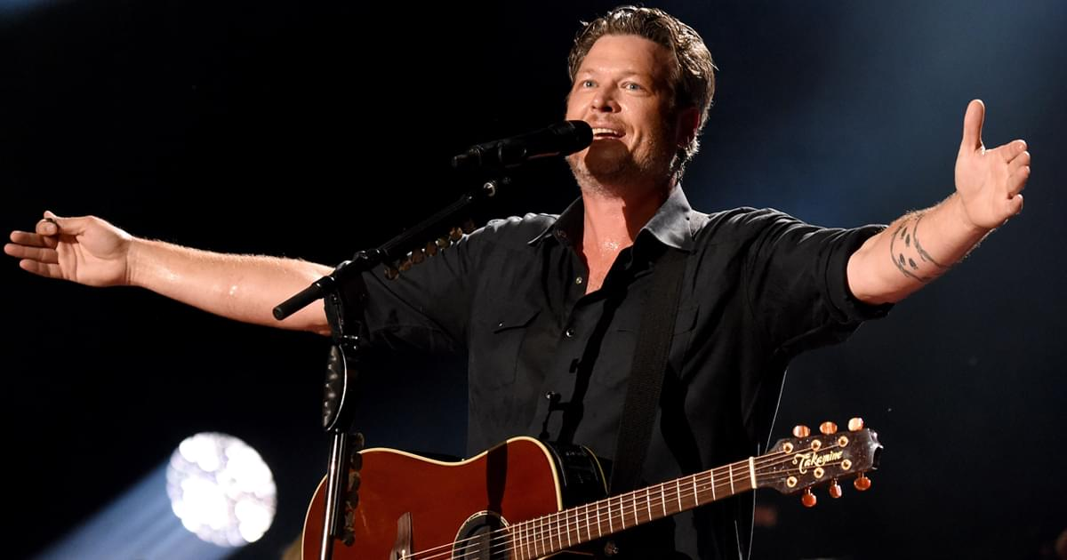 "Blake Shelton's ""Happy Anywhere"" Debuts in Top 20: ""Thanks for Letting Me Do What I Love the Most—Sing Country Music"""