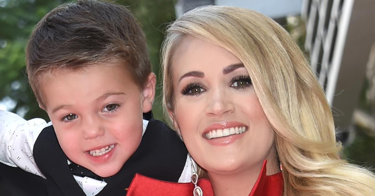 """Listen to Carrie Underwood & Her Son Isaiah Sing """"Little Drummer Boy"""""""