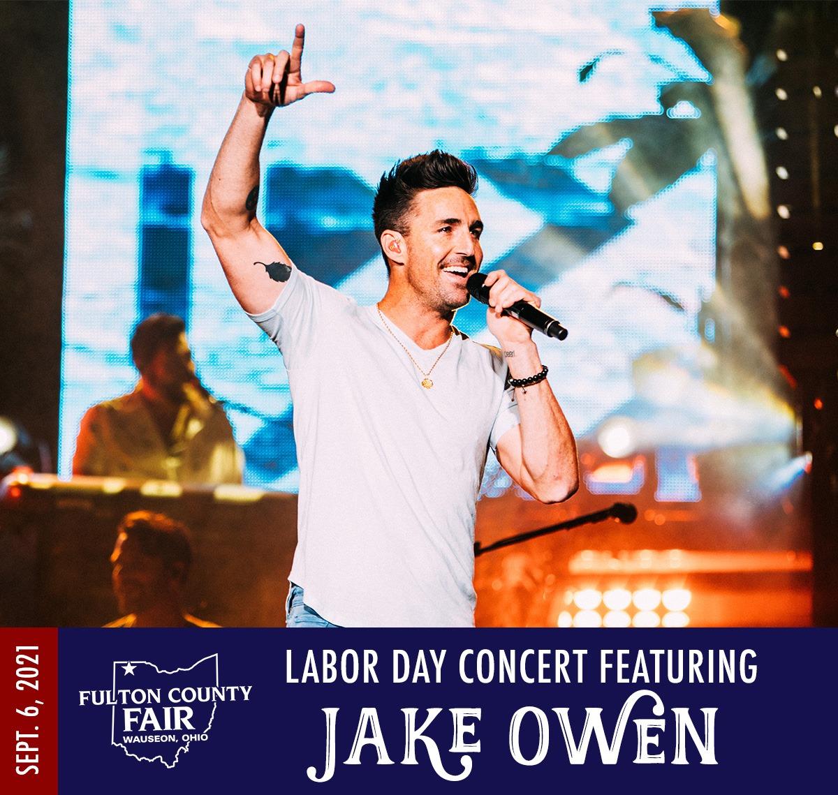 Jake Owen – Fulton County Fair – September 6th