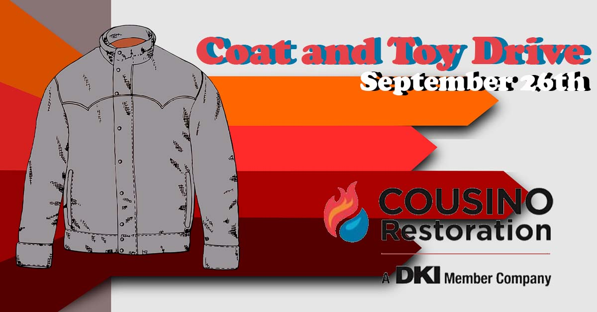 Cousino Restoration Coat and Toy Drive September 26th.