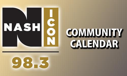 98.3 Nash Icon Community Calendar