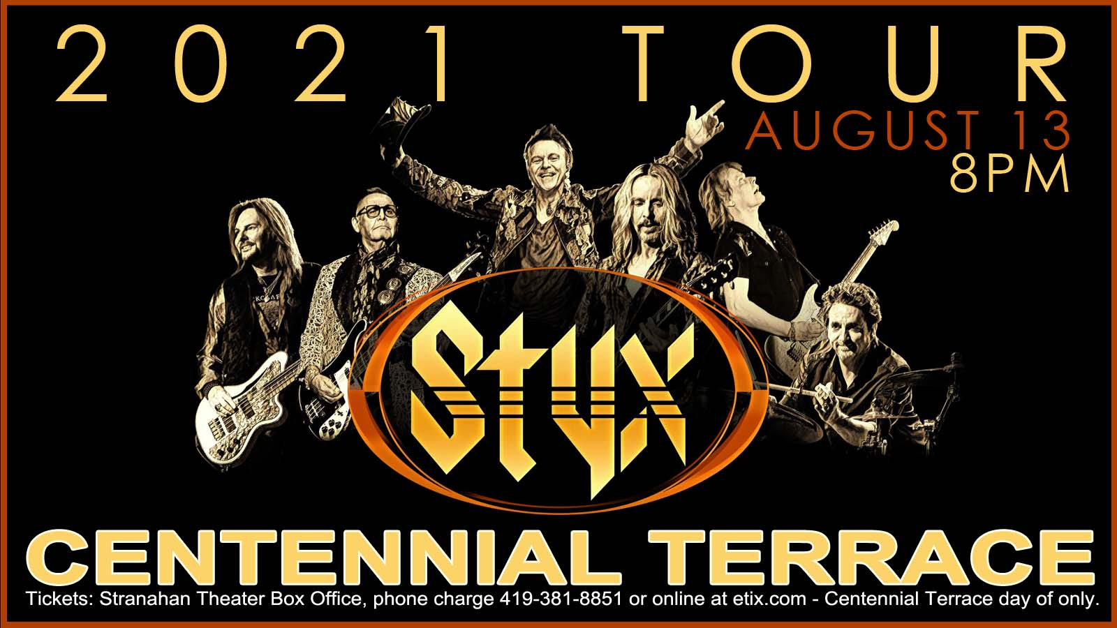 Styx – Centennial Terrace – August 13