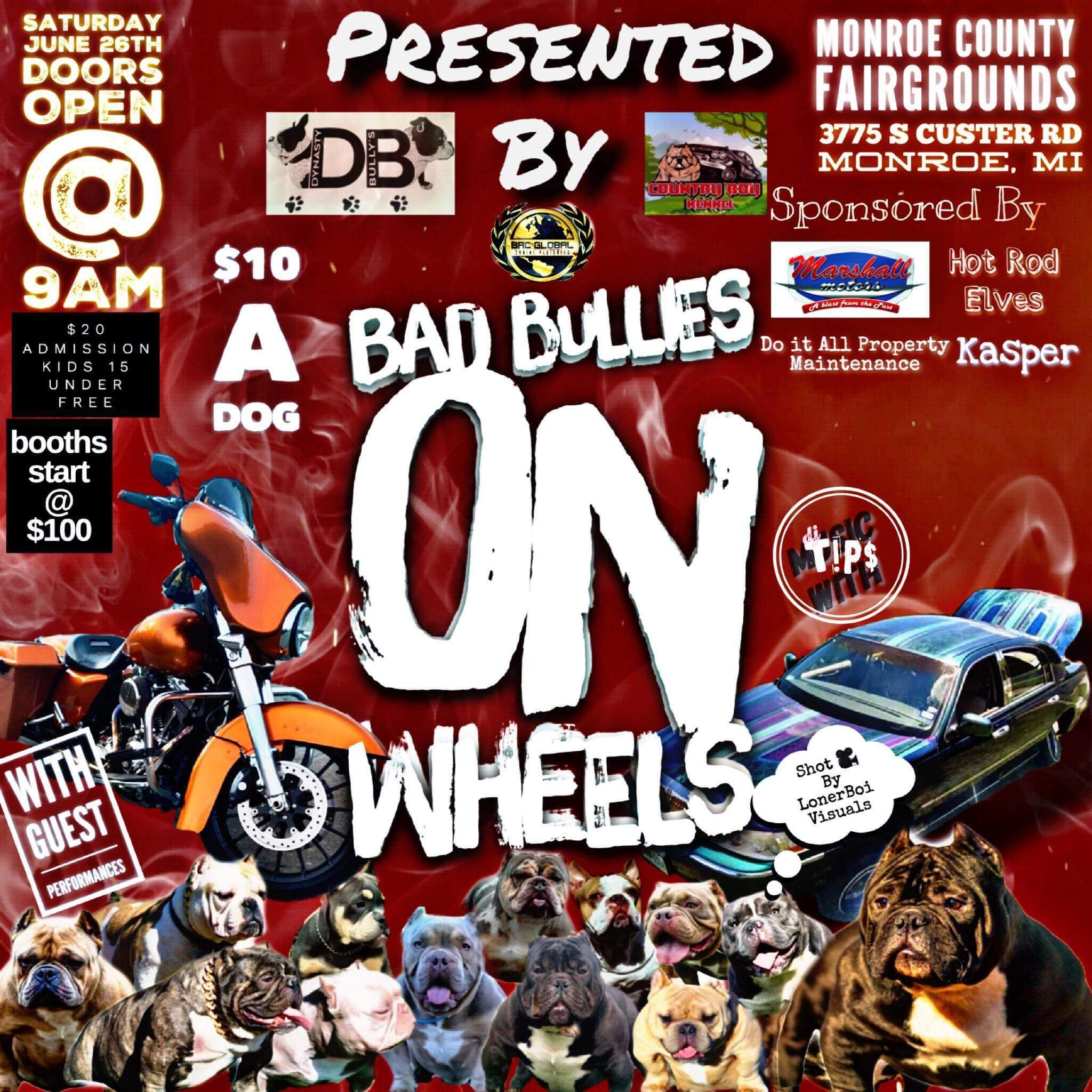 Bad Bullies On Wheels – June 26th – Monroe County Fairgrounds
