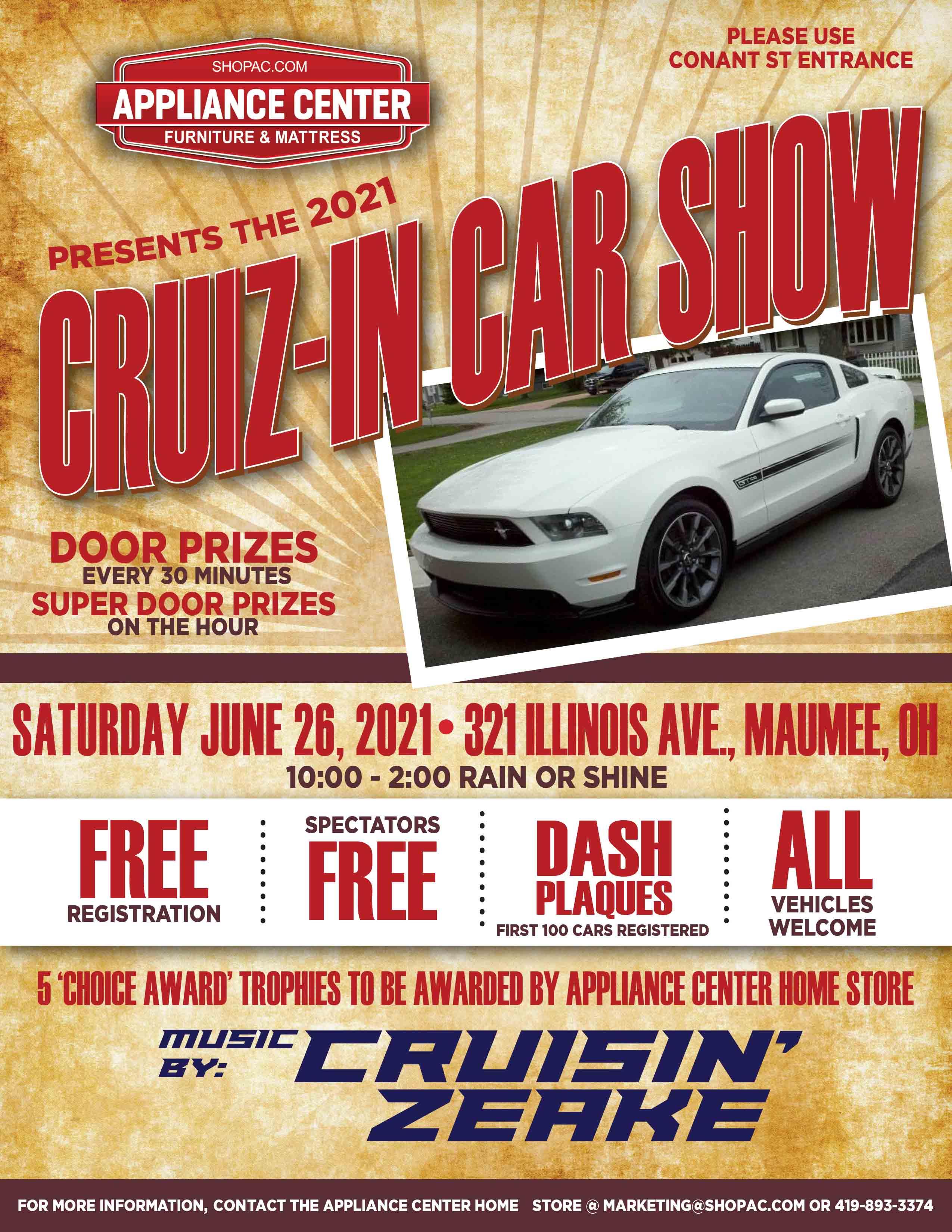 Appliance Center's Annual Cruiz-In Car Show
