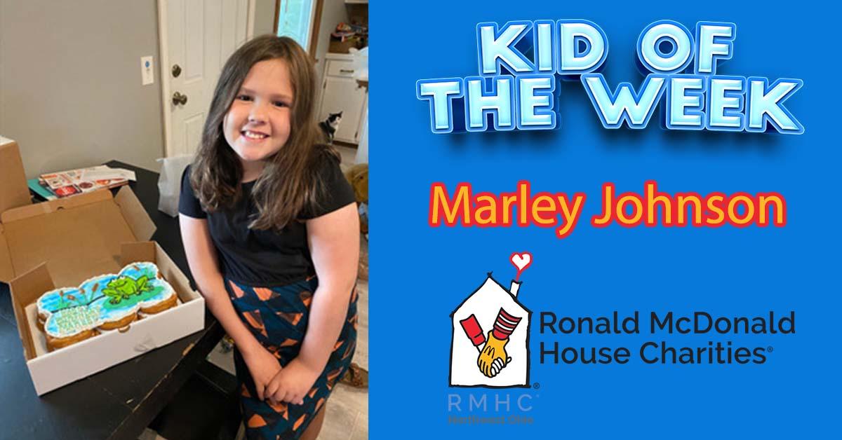 Kid Of The Week!  Marley Johnson of Maumee!