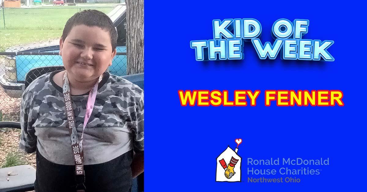 Kid Of The Week – Wesley Fenner