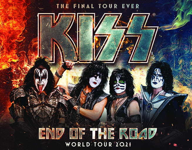 KISS: End Of The Road Tour! August 25th at the Huntington Center