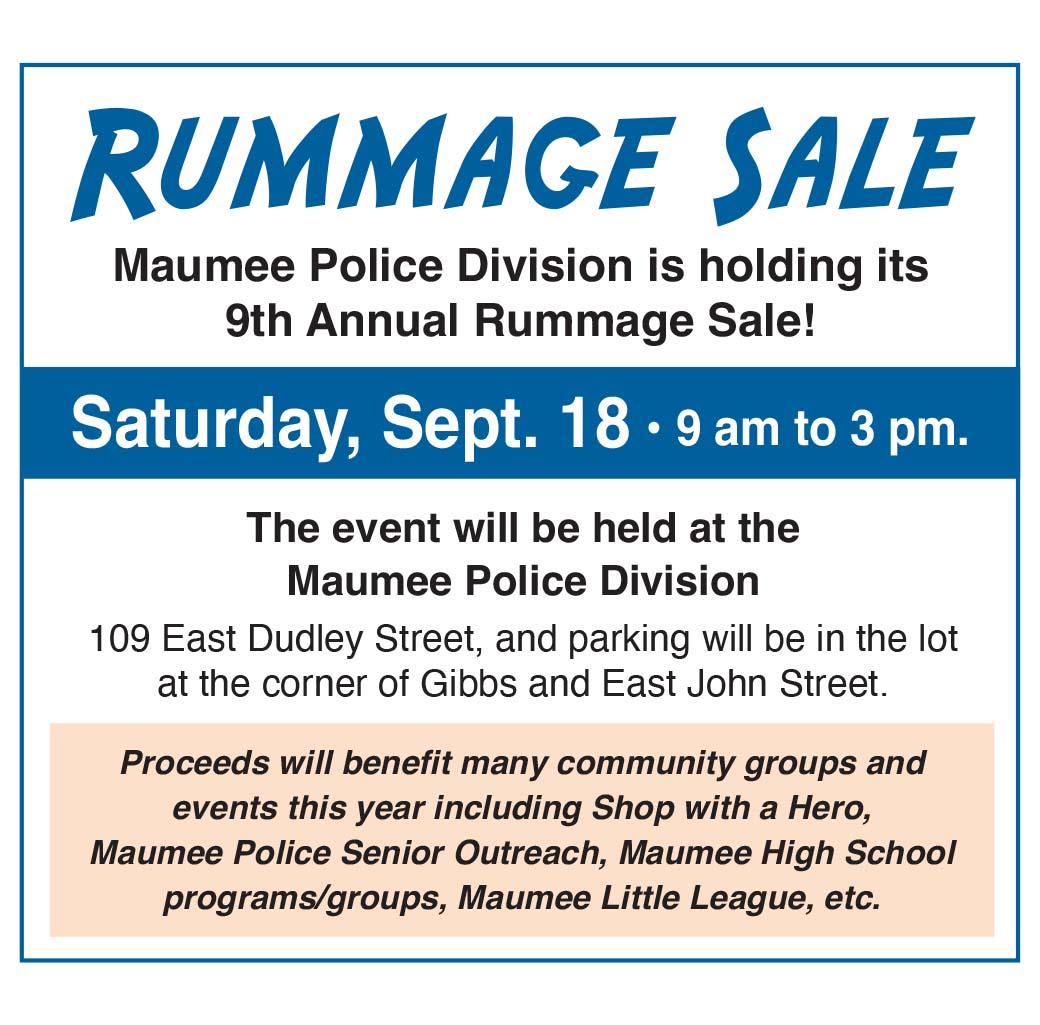 Maumee Police Division – 9th Annual Rummage Sale