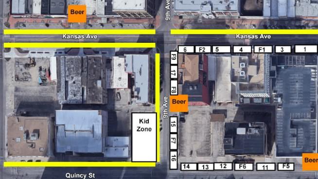 Downtown Topeka Road Closures This Saturday
