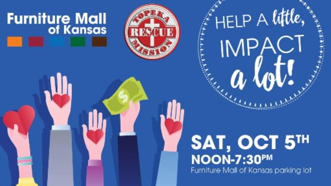 Topeka Rescue Mission Benefit Event at Furniture Mall of Kansas!