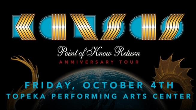 Don't Miss KANSAS on October 4th!